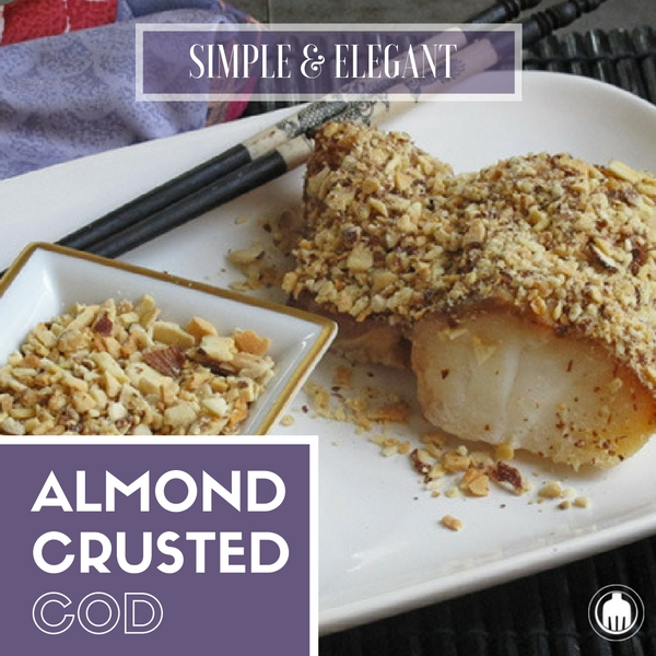 Almond Crusted Cod is one of the simplest and healthiest dinners on the fish aisle! Enjoy this with family and friends.