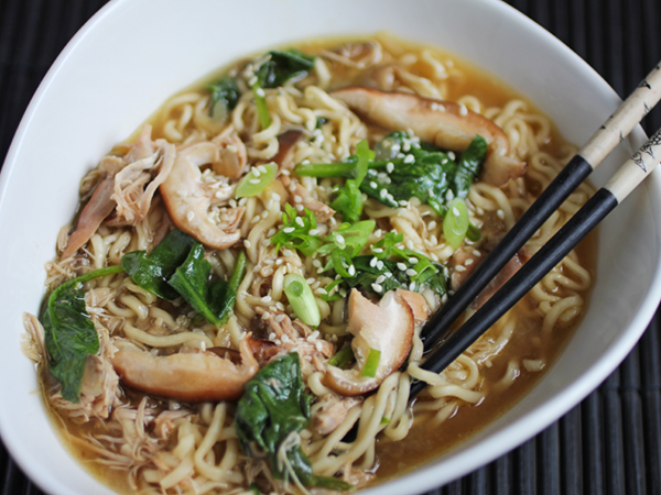 Make ramen noodles healthier with this Slow Cooker Chicken Ramen Noodle Soup