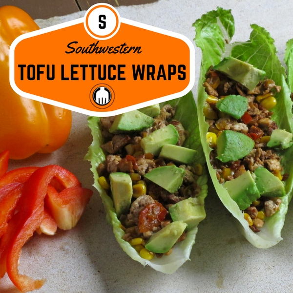 Our Southwestern Tofu Lettuce wraps are so simple and savory for dinner. They are also very versatile so can be served over grains as well.
