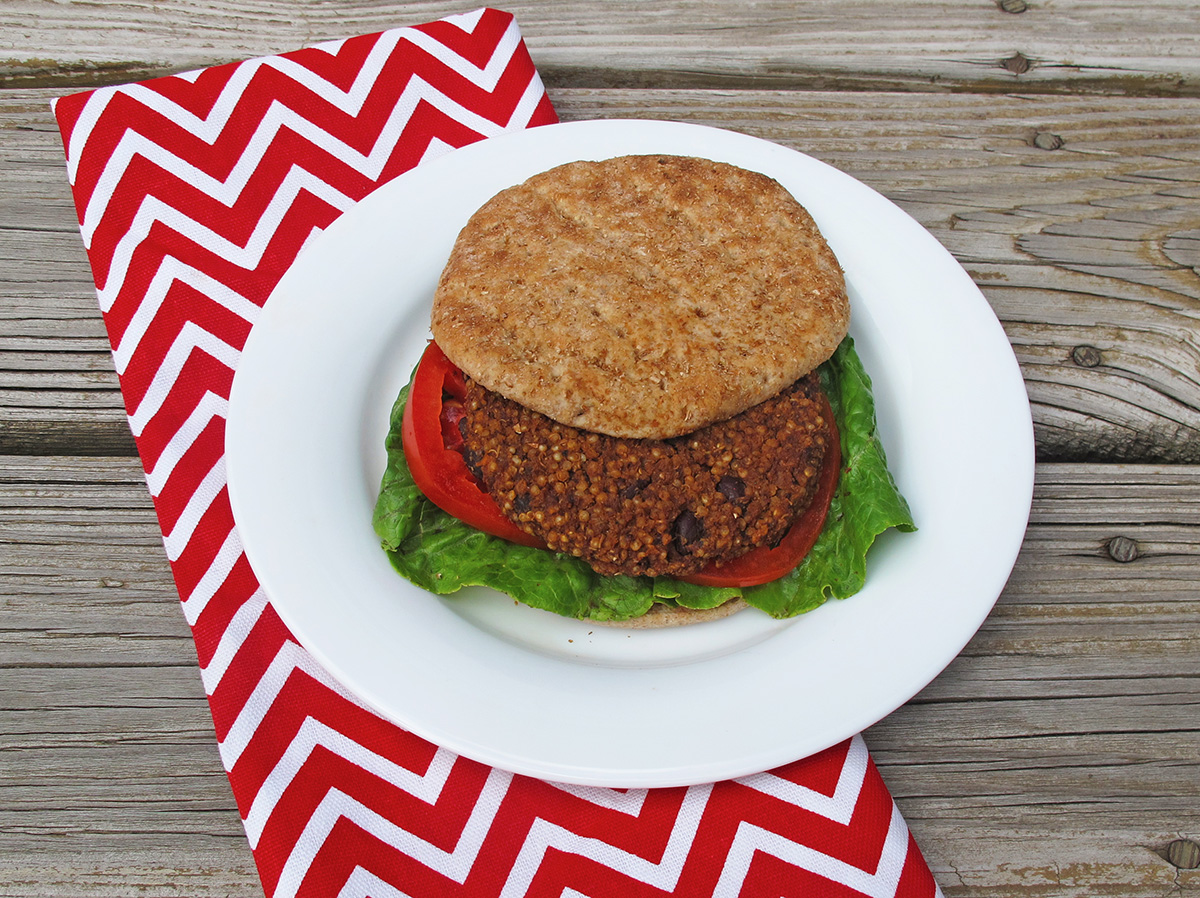 Black Bean Quinoa Burger is a great veggie burger the whole family will love