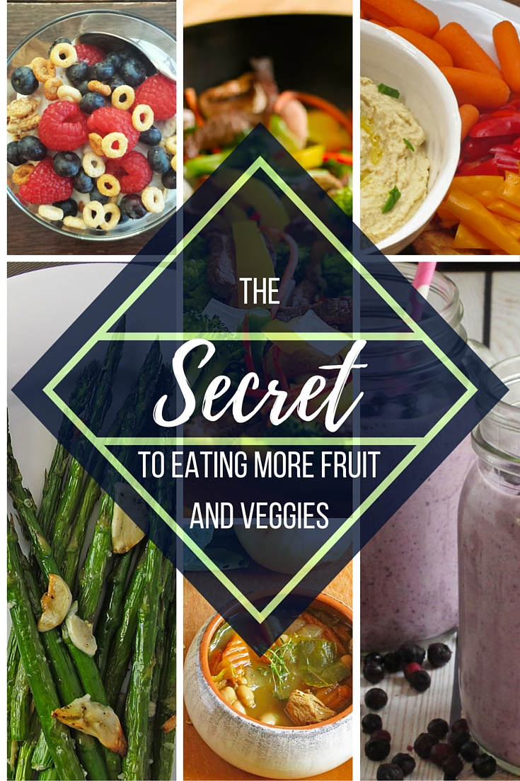Learn the secret to eating more fruits and veggies. We have 14 easy ways to get more in your day.