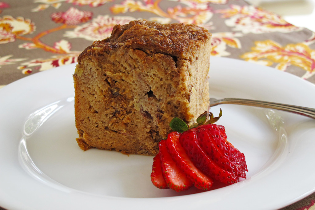 Breakfast Banana Bread Pudding in the Slow Cooker