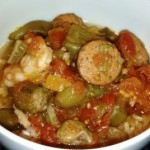 Slow Cooker Chicken Sausage and Shrimp Gumbo