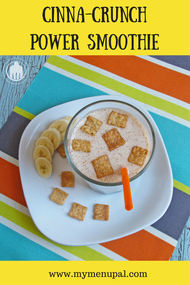 This Cinna-Crunch Power Smoothie uses everyone's favorite Cinnamon Toast Crunch Cereal to make a protein-packed smoothie taste even better.