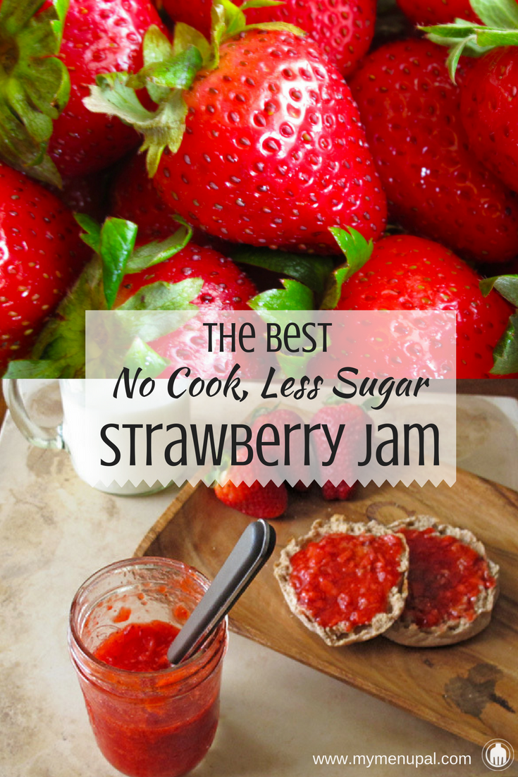This no cook, less sugar strawberry jam is our favorite for that fresh strawberry taste year round!