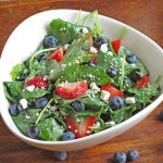 Strawberry and Blueberry Kale Power Salad
