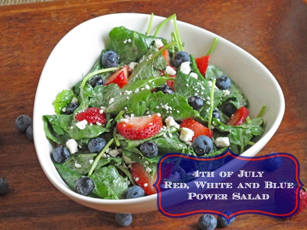 Strawberry Blueberry Kale Power Salad