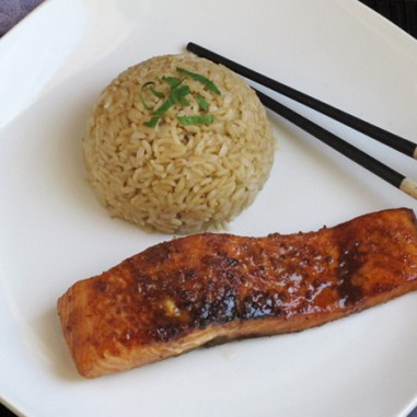Caramelized Garlic Miso Salmon - a tasty twist on this classic fish!