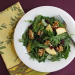 Cranberry, Walnut and Apple Arugula Salad