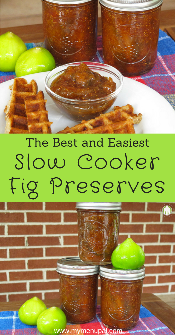 Slow Cooker Fig Preserves are the perfect way to use up an abundance of fresh figs and enjoy year round.