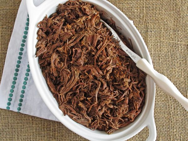 This Slow Cooker Balsamic Roast Beef is the perfect dish for a fast dinner without heating up the kitchen. It's also a great cook once, use twice dish to use in our Roast Beef and Provolone Sandwiches.