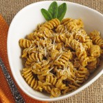 Creamy Pumpkin Rotini Pasta - perfect use for canned pumpkin this fall!