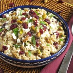 Cranberry and Kefir Quinoa Salad - this recipe will introduce you to the great grain of Quinoa, or show you a new way to use it if you're an old pro!