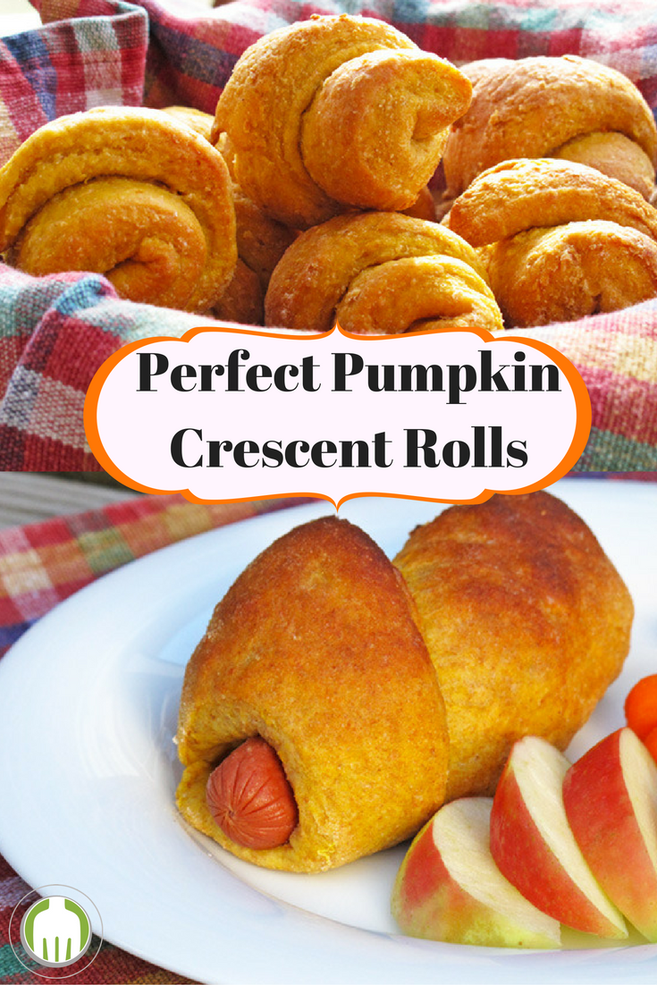 Pumpkin Crescent Rolls are simple to make if you have a bread machine and can be used any number of ways. Plus they are whole grain and so tender your family will never know it!