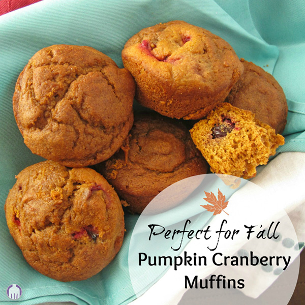 Pumpkin Cranberry Muffins - perfect for fall