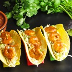 Speedy Shrimp Tacos with Mexican Coleslaw
