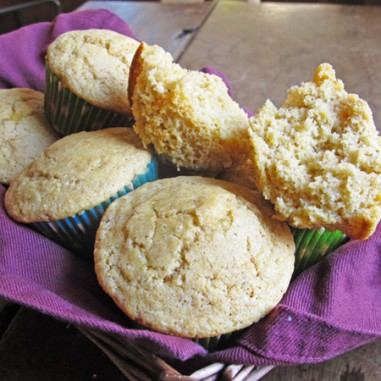 Whole Wheat Corn Muffins - perfect side for soups, stews or chili