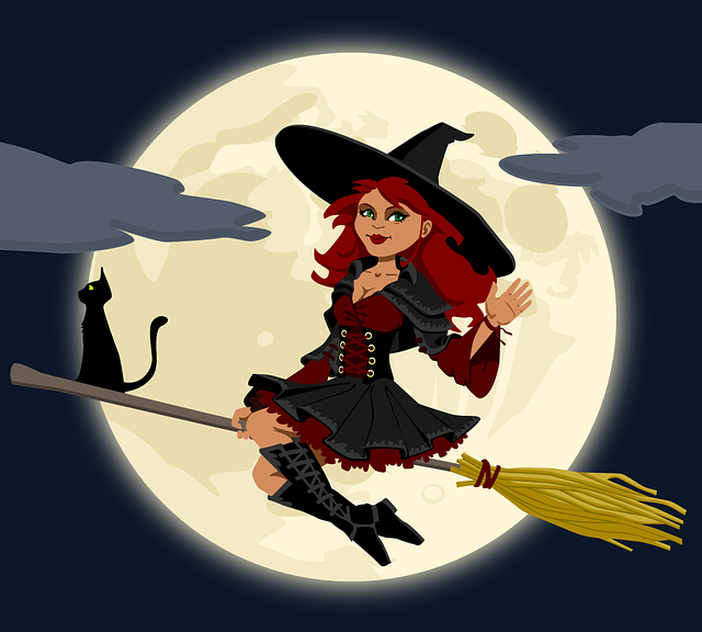 switch witch on broom