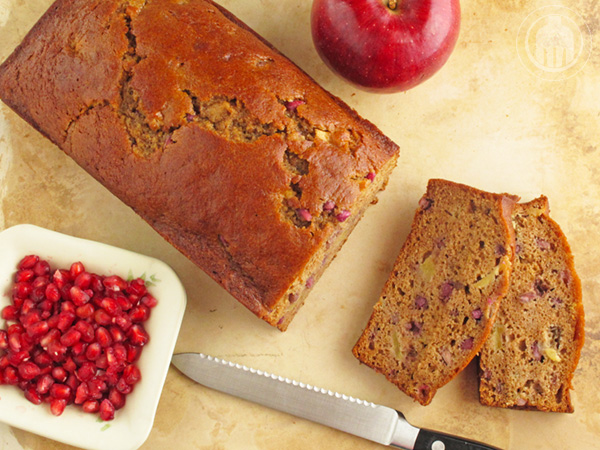 Apple Pomegranate Bread, perfect for holiday baking