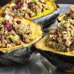 Brown Rice and Lentil Stuffed Acorn Squash - great for fall!