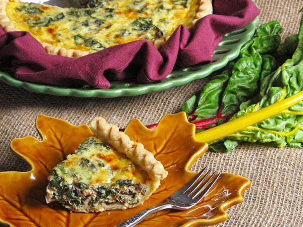 Chard and Cheddar Quiche