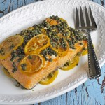 Slow Cooker Lemon Caper Salmon
