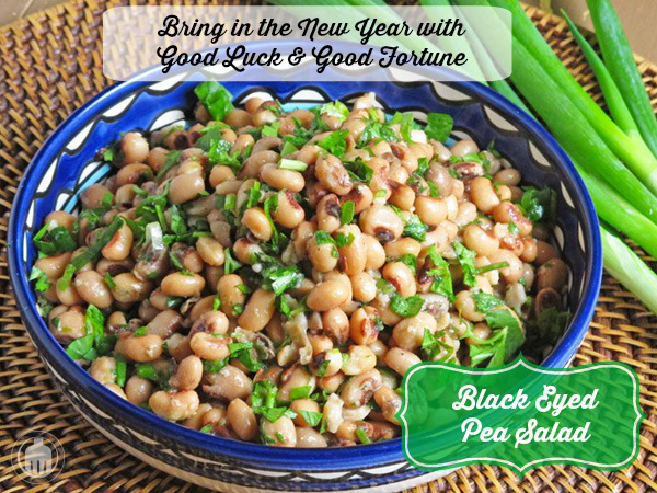 Black Eyed Pea Salad is the perfect New Year's Day dish for luck, fortune and good health!