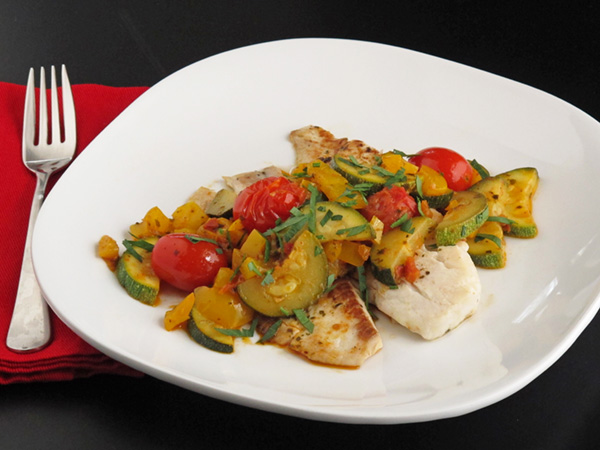 Fast fish and veggie skillet my menu pal for Fish and veggie diet