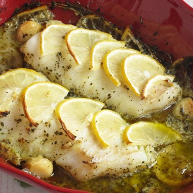 Lemon Herb Baked Cod