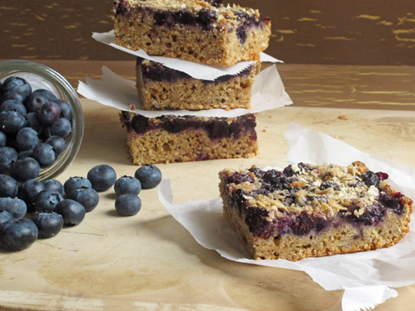 Power Blueberry Breakfast Bars