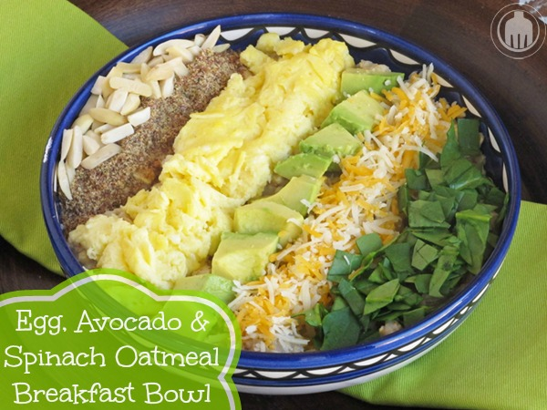 Egg, Avocado and Spinach Breakfast Bowl