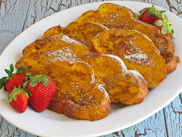 Pumpkin French Toast is an easy way to jazz up regular french toast any time of year