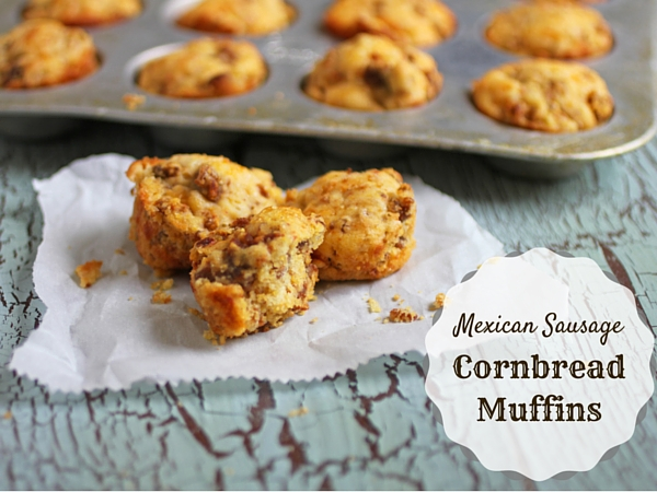 The perfect pairing for breakfast for dinner are these Mexican Sausage Cornbread Muffins and our Baked Omelet Roll