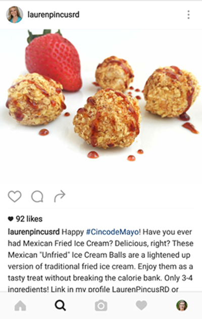 Mexican Unfried Ice Cream Balls by Lauren of Nutrition Starring You