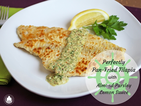 PanFried Tilapia With Almond Parsley Lemon Sauce