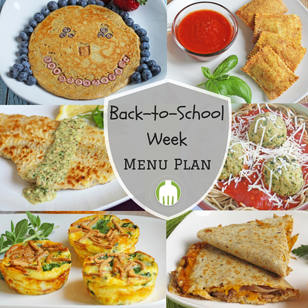 Back to School Week Menu Plan featuring Brinner aka Breakfast for Dinner