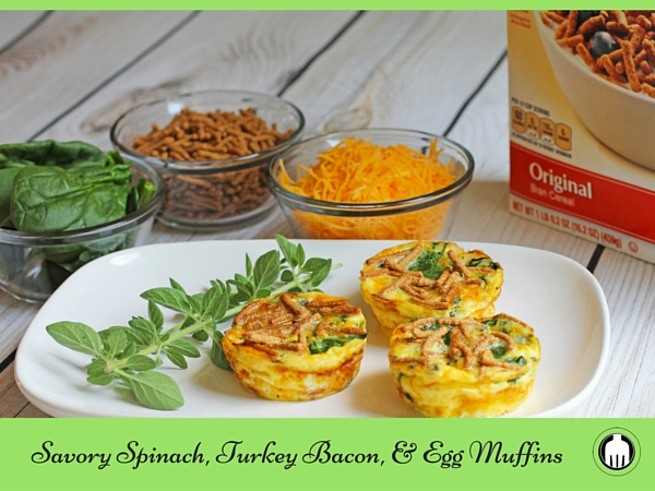 Spinach, Turkey Bacon, and Egg Muffins