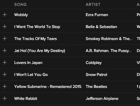Check out our September 2016 music playlist that will knock your socks off!