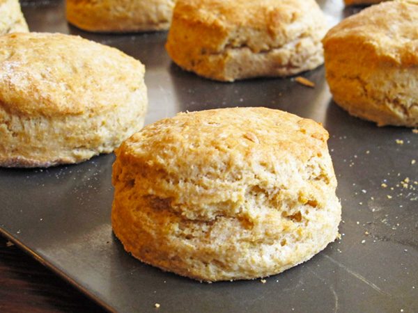Whole wheat biscuits are simple to make and will be gobbled up in no time by everyone in the family.