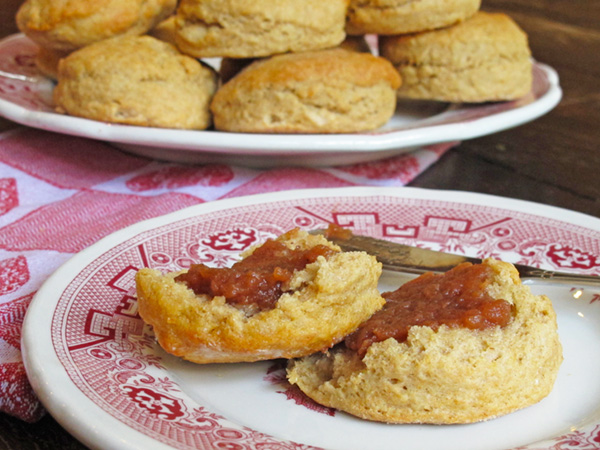 Whole wheat biscuits and apple butter are the perfect pairing