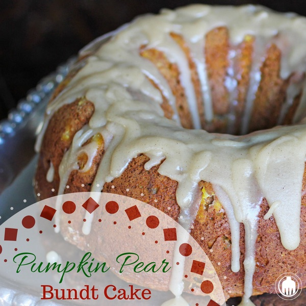 Pumpkin Pear Bundt Cake with Brown Butter Icing is the epitome of Thanksgiving desserts