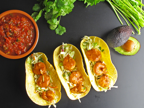 Speedy Shrimp Tacos are a super simple dish to make for Taco Tuesday or any night of the week!