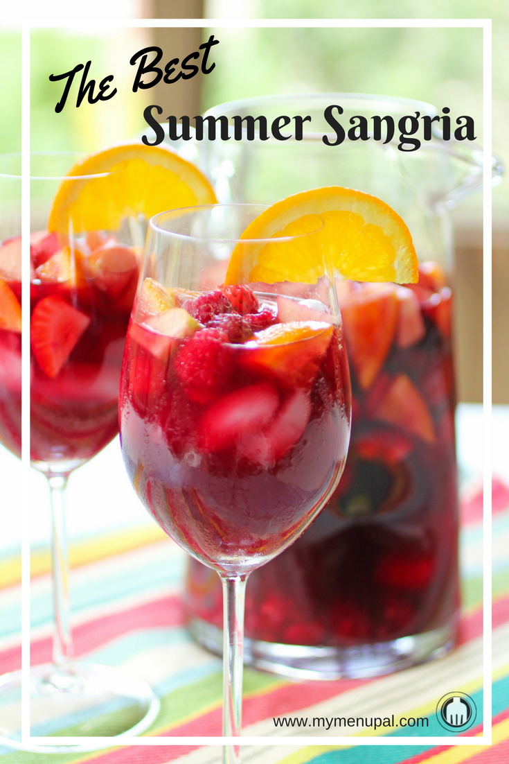Summer Sangria is the perfect festive and refreshing drink for any occasion! Use whatever fresh fruits you have on hand such as apples, oranges, strawberries and raspberries.