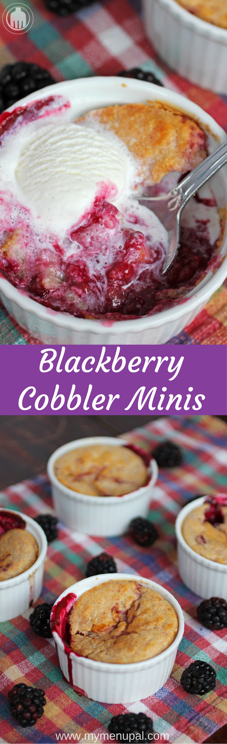 Blackberry Cobbler Minis are the perfect easy summer dessert using fresh berries at their peak so added sugar is kept to a minimum