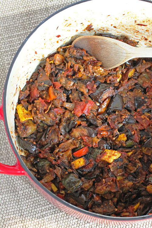 Ratatouille is the ultimate vegetable comfort food dish that can be easily made in advance.