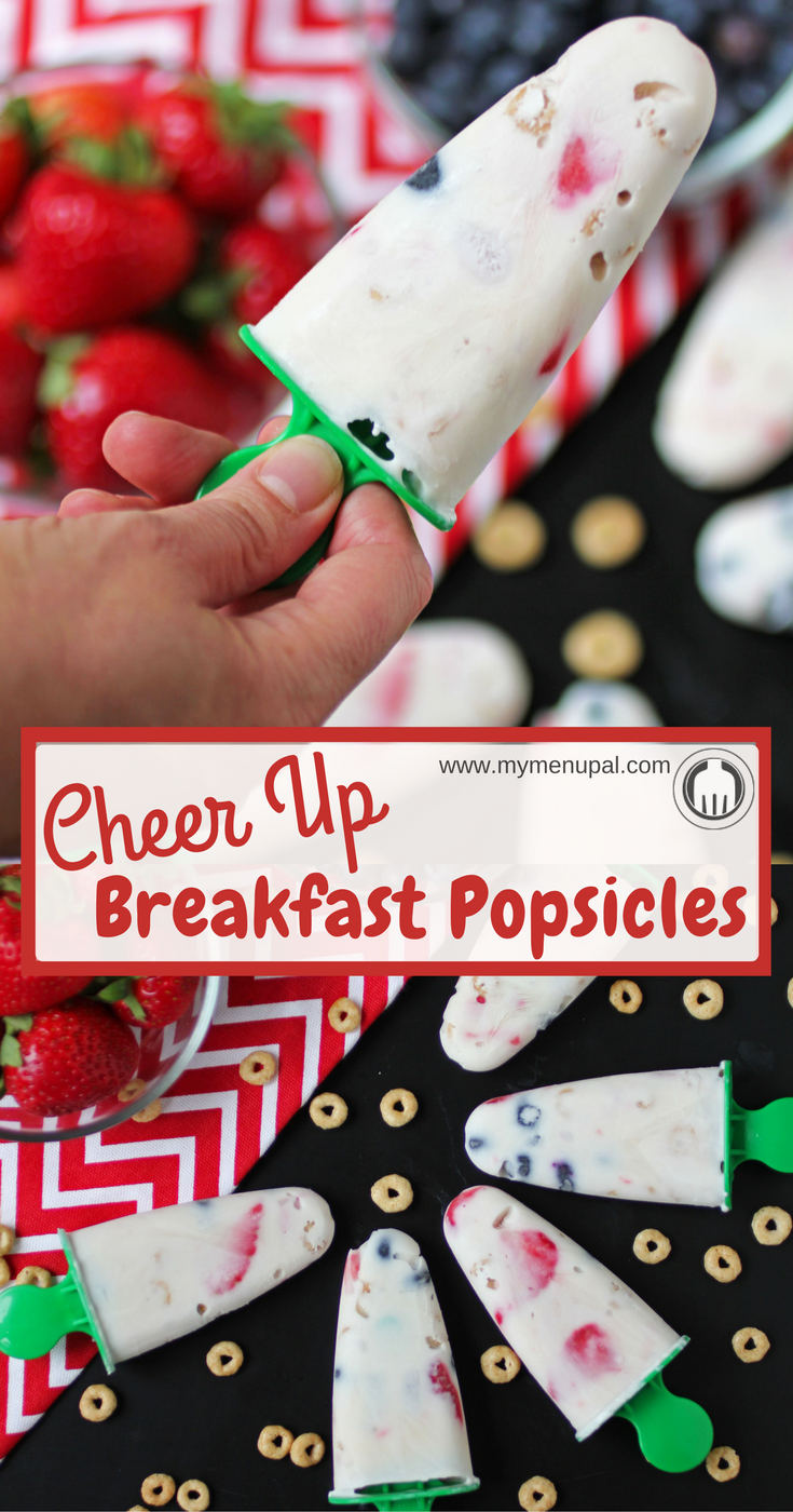 #ad Get your morning off on the right start with a breakfast popsicle made with 3 simple ingredients: Honey Nut Cheerios, Fresh Fruit and Greek Yogurt.