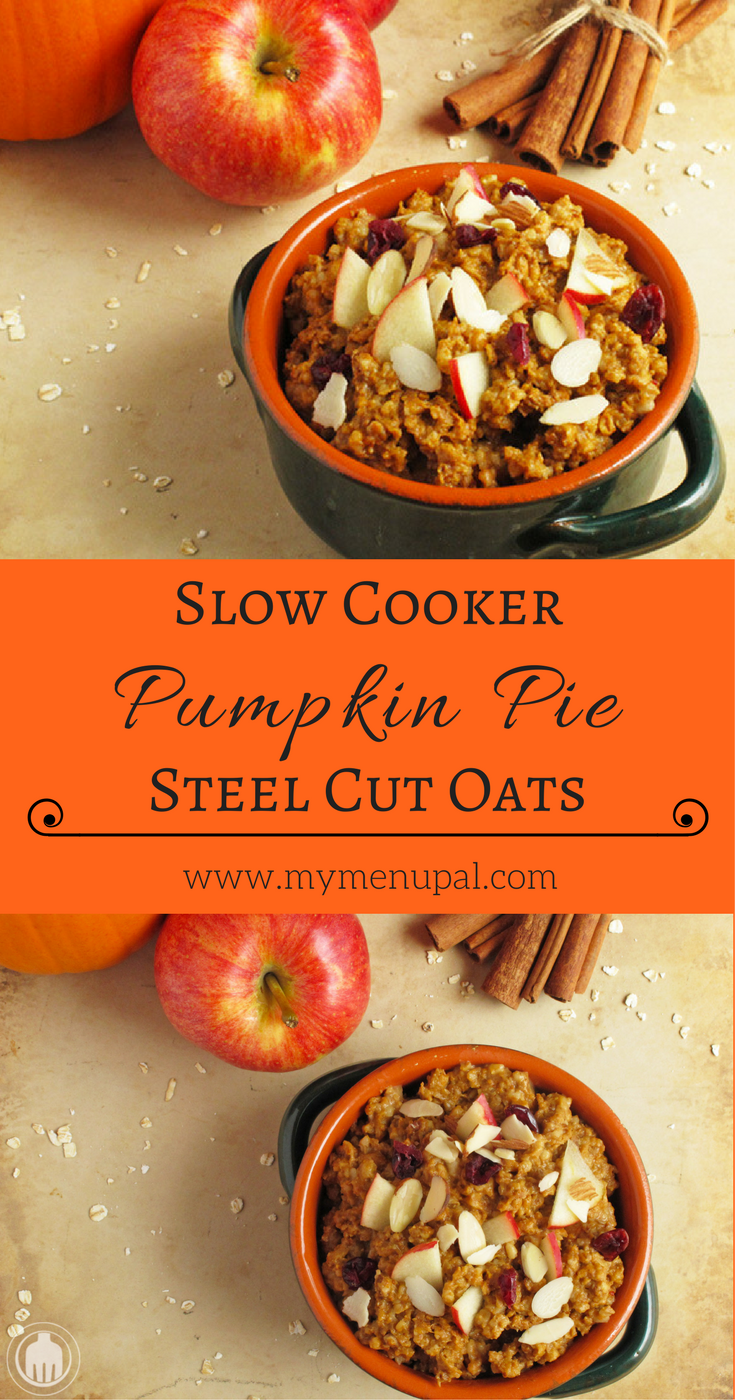 Wake up to the perfect Autumn breakfast with Slow Cooker Pumpkin Pie Steel Cut Oats. And your whole house will smell incredible.
