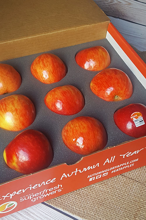 #ad Autumn Glory Apples are naturally sweet with hints of caramel and cinnamon.