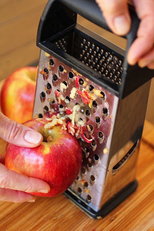 #ad The Best Baked Apple Caramet Donuts start with grating Autumn Glory Apples, skin and all!