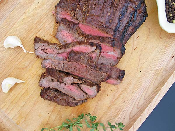 Soy marinated flank steak is an easy dish to prepare and serve a crowd